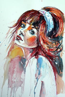 Painting - Lovely Girl by Kovacs Anna Brigitta