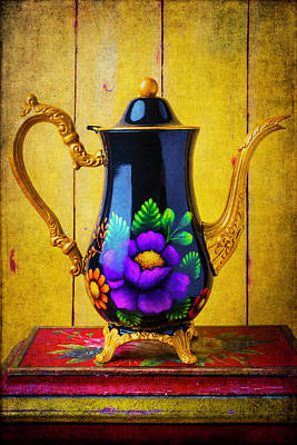 Lovely Handpainted Teapot Art Print