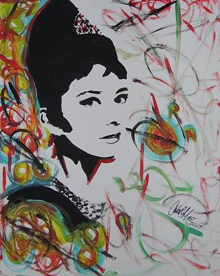 Lovely Hepburn Art Print