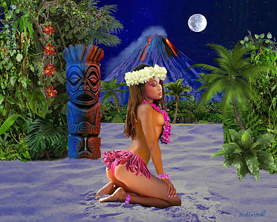 Digital Art - Lovely Island Girl by Glenn Holbrook