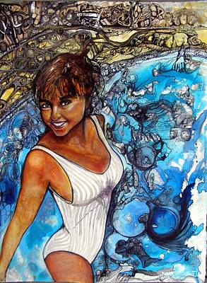 Painting - Lovely Lady Commission by Anne-D Mejaki - Art About You productions