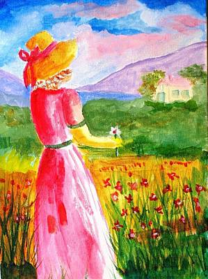 Painting - Lovely Lady Landscape by Joe Hagarty