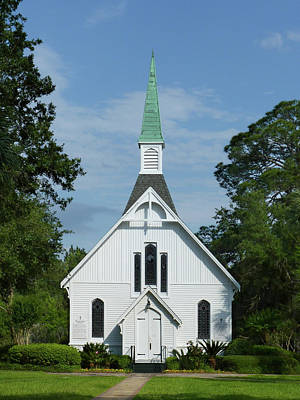 Photograph - Lovely Lane Chapel On St. Simons Island by Carla Parris