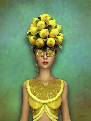 Mixed Media - Lovely Lemon by Britta Glodde