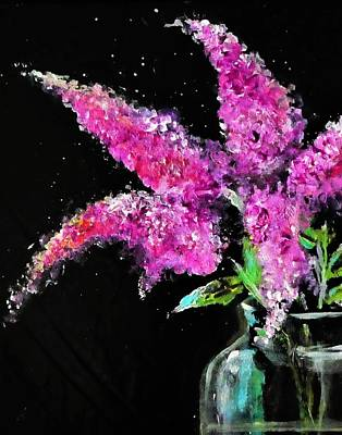 Digital Art - Lovely Lilac And Glass Painting by Lisa Kaiser