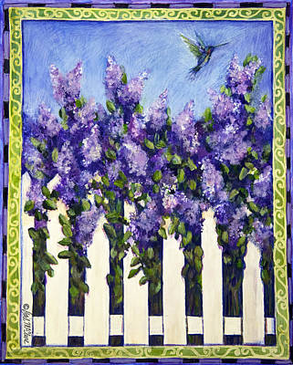 Lilac Drawing - Lovely Lilacs by Gail McClure