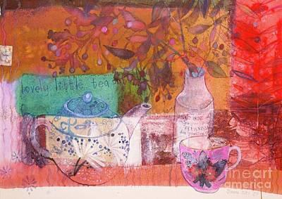 Teapot Mixed Media - Lovely Little Teapot by Joanna Allen