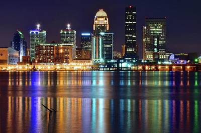 Photograph - Lovely Louisville Lights by Frozen in Time Fine Art Photography