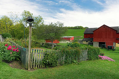 Amish Farms Photograph - Lovely Ohio Amish Farm by Mountain Dreams