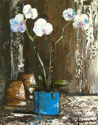 Interior Still Life Painting - Lovely Orchids by Patricia Awapara