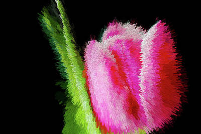 Digital Art - Lovely Pink Tulip Abstract by MS  Fineart Creations