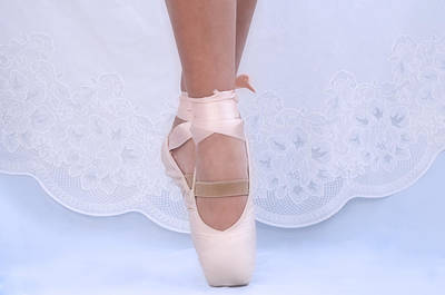 Photograph - Lovely Pink Pointe Shoes At School Dance by Pedro Cardona