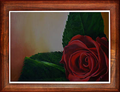 Commission Work Drawing - Lovely Rose by Deepak Deshmukh