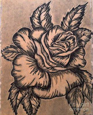 Drawing - Lovely Rose by Francine Heykoop