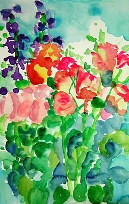 Painting - Lovely Roses by Rachel Rose