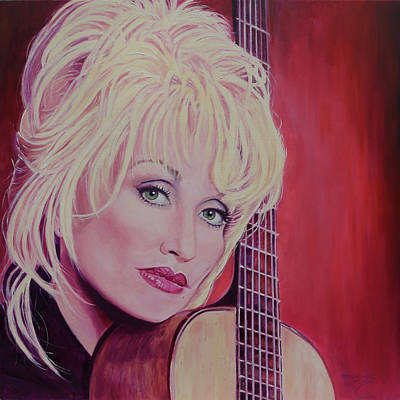 Painting - It's All Wrong, But It's All Right - Dolly Parton by Maria Modopoulos