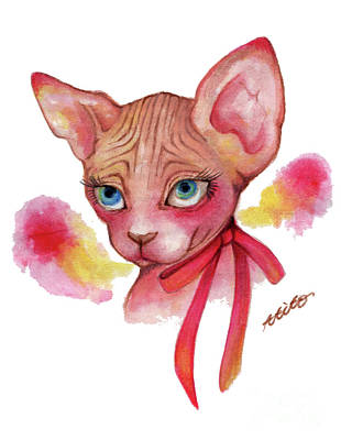 Lovely Sphynx Art Print