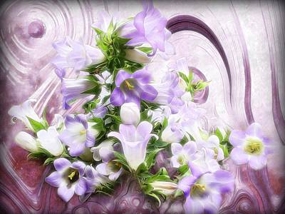 Royalty Free Images Mixed Media - Lovely Spring Flowers by Gabriella Weninger - David