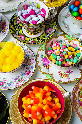 Lovely Tea Cups And Candy Art Print