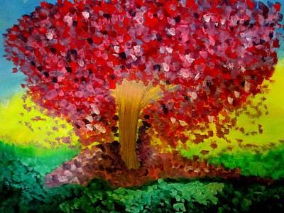 Purple Painting - Lovely Tree by Stephanie Zelaya