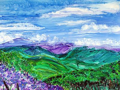 Painting - Lovely View Santa Inez by Sarah Hornsby
