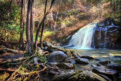 Photograph - Lovely Waterfall Cascades by Debra and Dave Vanderlaan