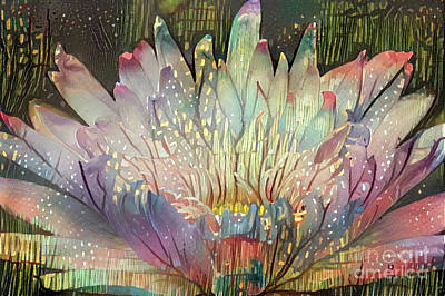 Tropical Digital Art - Lovely Waterlilies 6 by Amy Cicconi