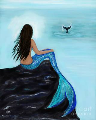 Painting - Lovely Whale Watcher by Leslie Allen