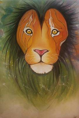 Animals Painting - Lovelylion by Anne Sue
