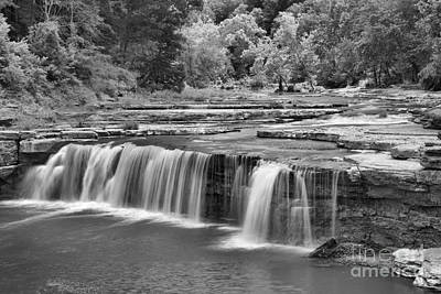 Photograph - Lover Cataract Falls Black And White by Adam Jewell