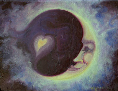Lovermoon Art Print by Suzn Art Memorial
