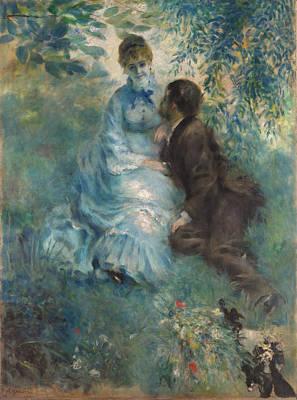 Creative Lovers Art Drawing - Lovers 1875 by Pierre Auguste Renoir