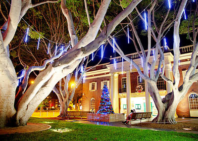Photograph - Lovers At Christmas In Manly by Miroslava Jurcik