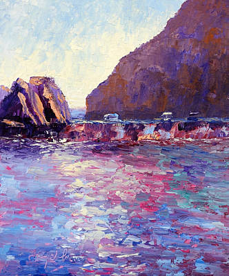 Lover's Cove Art Print by Terry  Chacon