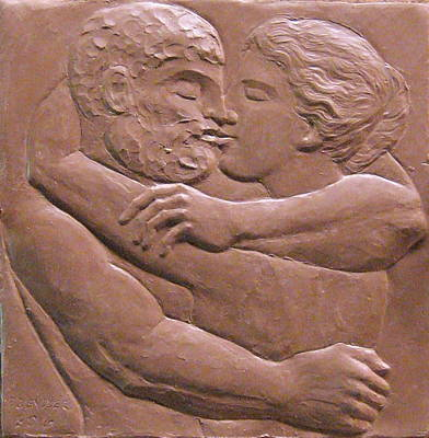 Sculpture - Lovers by Deborah Dendler