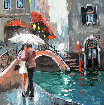 Painting - Lovers by Dmitry Spiros