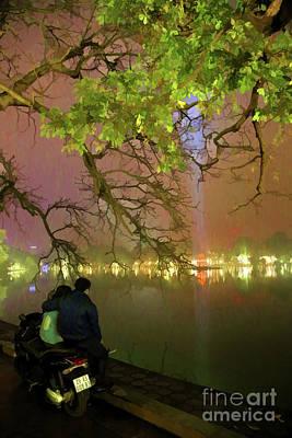 Kiem Photograph - Lovers II Hoan Kiem Lake Vietnam  by Chuck Kuhn