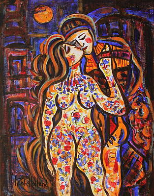 Nude Painting - Lovers In The Moonlight by Natalie Holland