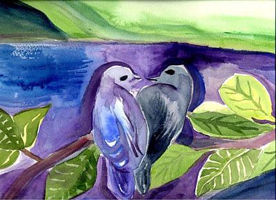 Lovers Art Print by Janet Doggett