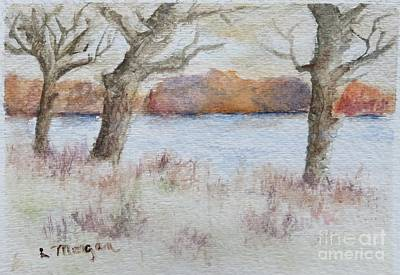 Lovers' Lake Art Print