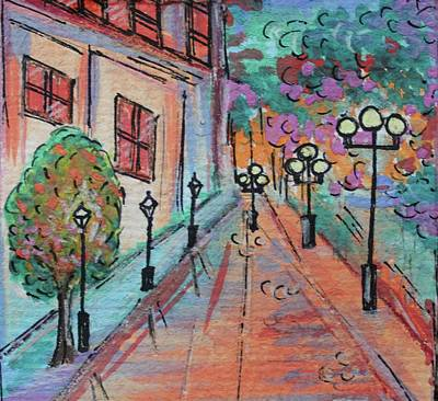 Watercolor Painting - Lover's Lane by Art By Naturallic