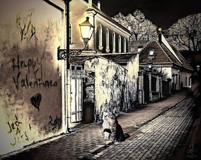 Digital Art - Lovers Lane by Pennie  McCracken