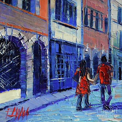 Painting - Lovers by Mona Edulesco