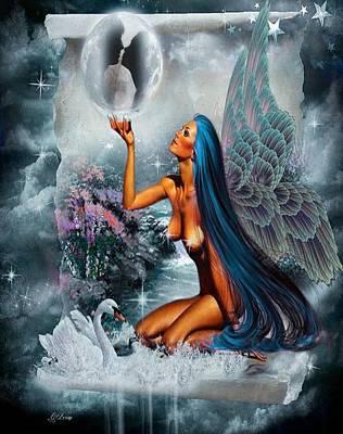 Lovers Moon 2 Art Print