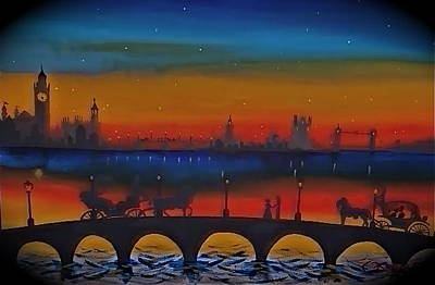 London Skyline Mixed Media - Lovers Of London by Rory Moorer