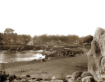 Photograph - Lovers Point And Beach Looking Up Forest Ave. Pacific Grove Circa 1887 by California Views Mr Pat Hathaway Archives