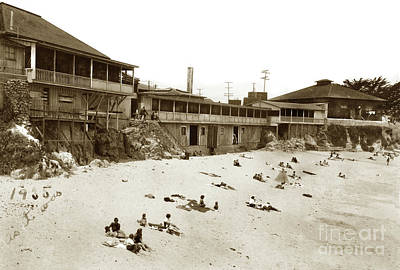 Photograph - Lovers Point Beach, Pacific Grove 1935 by California Views Mr Pat Hathaway Archives