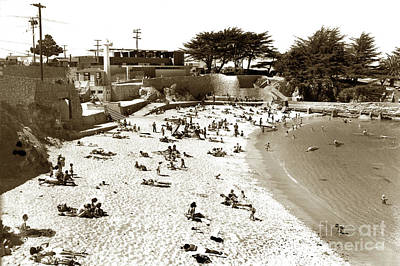 Photograph - Lovers Point Beach, Pacific Grove 1955 by California Views Mr Pat Hathaway Archives