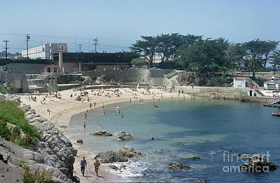 Photograph - Lovers Point Beach, Pacific Grove, Calif. 1966 by California Views Archives Mr Pat Hathaway Archives