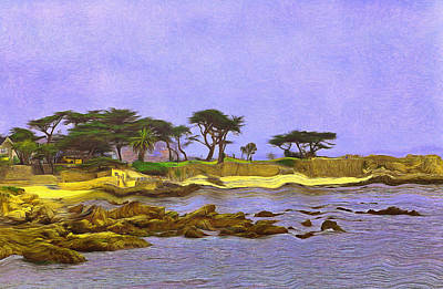 Digital Art - Lovers Point Monterey County by Viktor Savchenko